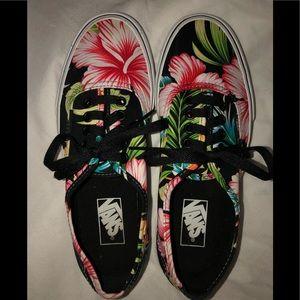 Women's Hawaiian Hibiscus Print Vans